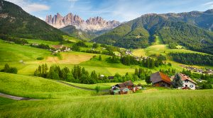 A view of the Dolomiti Val Funes